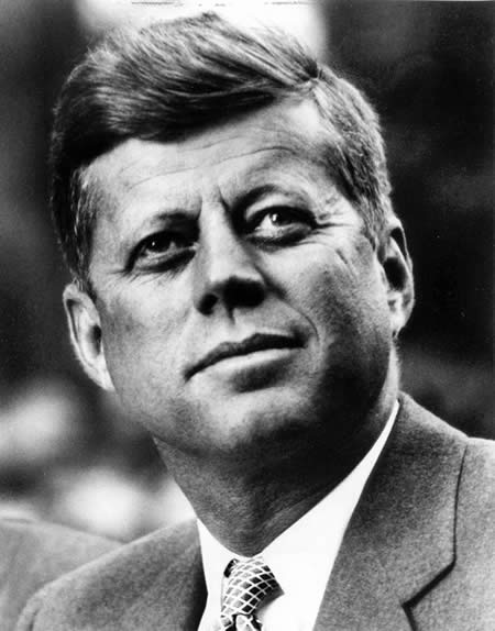 Headshot of John F Kennedy